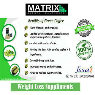 Green Coffee Beans for Weight Loss (Pack of 2) - from Matrix Global Healthcare