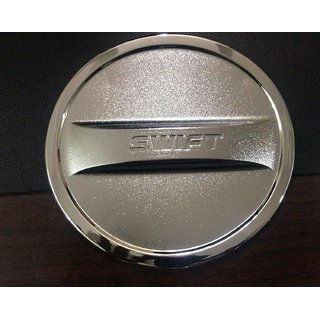 DELHITRADERSS Chrome Maruti Swift Fuel Tank Cover Lid Metallic Tank Fuel Cap Cover