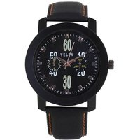 Telsa T-000T051 Sodia. Leather Analog Men's Watch