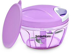 Smile Mom Handy Vegetable Chopper, Cutter Set with Storage Lid for Kitchen, 3 Stainless Steel Blade (400 ML)