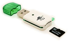 3G Gold Brand High Speed Micro SD Card Reader,, Card Sync (Colour May Vary)