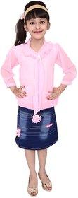 Meia for girls Pink Top  Bottom Dress