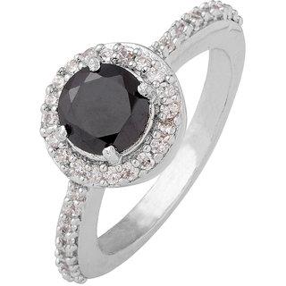 Voylla Monochrome Gem Studded Fashion Ring