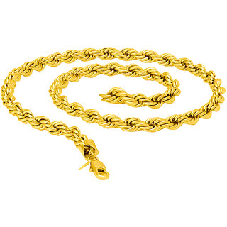 Dare by Voylla Rope Link Chain with Gold Plating