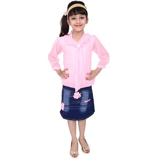 Meia for girls Pink Top  Bottom Dress