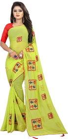 Pari Designerr Georgette Embroidered Saree With Blouse(Roohi)