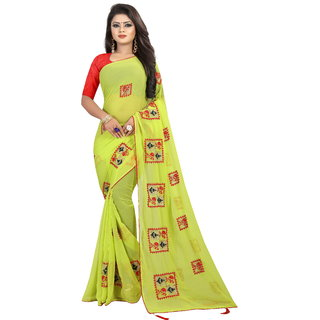 Pari Designerr Georgette Embroidered Saree With Blouse(Roohi)