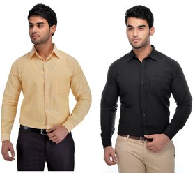 Khadio Men's Multicolor Formal Shirts