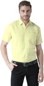 Khadio Men's Yellow Formal Shirts