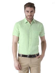 Khadio Men's Green Formal Shirts