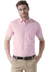 Khadio Men's Pink Formal Shirts