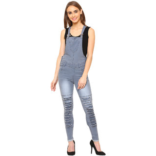 Dryzee Denim Dungaree for Women's (DryDNGRRUFGREY)