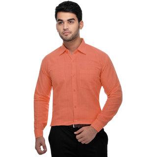 Khadio Men's Orange Formal Shirts