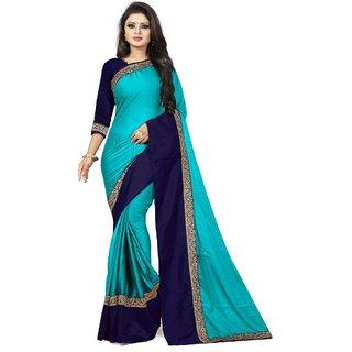 Pari Designerr  Multi Color Georgette Jacquard Lace Saree With Blouse(Ishita)