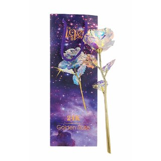 SCORIA 24K LED Light Golden Rose with 10inch with Gift Box and Carry Bag - Best Gift for Loves Ones, Anniversary