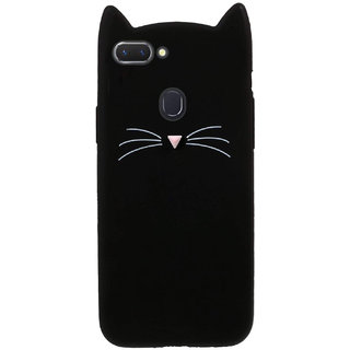 Wondrous Cat cartoon character soft silicon case for Oppo F9 Pro