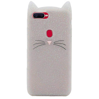 Wondrous Cat cartoon character soft silicon case for Oppo A7