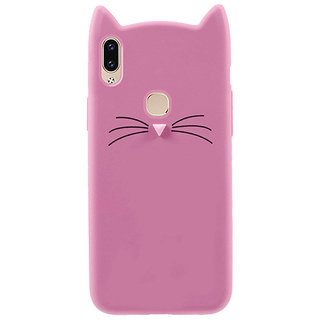 Imperium Cat cartoon character soft silicon case for Vivo V9, V9 Pro, V9 Youth
