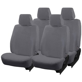 Grey Cotton Towel Seat Cover for Maruti Wagon R Old Models