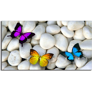 Studio Shubham butterfly wooden key holder(23.4cmx12.8cmx3cm)