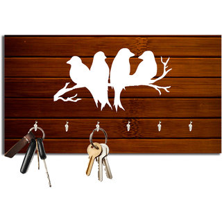 Studio Shubham Birds wooden key holder(23.4cmx12.8cmx3cm)