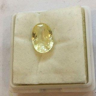 Natural Yellow Sapphire 5.00 ratti Pukhraj stone Unheated & lab certified stone Jaipur Gemstone