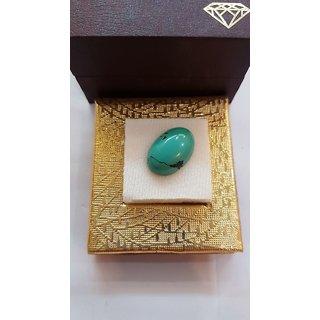 Natural Firoza Tuequoise stone 7.5 carat or 8.33 ratti original & unheated certified stone Jaipur Gemstone