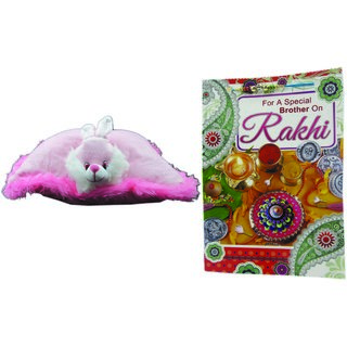Teddy bear soft toy love with rakhi