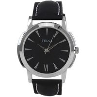 Telsa T-000T050 Neon. Leather Analog Men's Watch