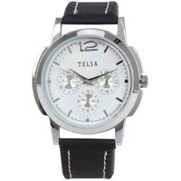 Telsa T-000T053 OX. Leather Analog Men's Watch