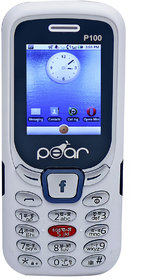 PEAR P100 dual sim, 1.8 inch, 1100mah big battery, mobile phone in WHITE color.
