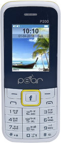 PEAR P200 dual sim, 1.8 inch, 1100mah big battery, mobile phone in WHITE COLOR