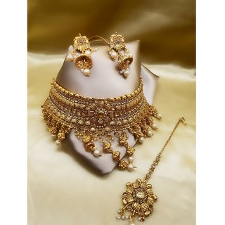 Penny Jewels Alloy Gold Plated Necklace Jewellery