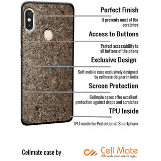 Cellmate Stylish Texture Pattern Soft Fabric TPU Fashionable Designer  Mobile Back Case Cover Oppo A37f - Gold
