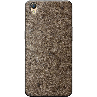 Cellmate Stylish Texture Pattern Soft Fabric TPU Fashionable Designer Mobile Back Case Cover Oppo A37fw - Gold