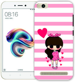 Ezellohub CUTE GIRL Printed Soft Silicone Mobile Back Cover Case for REDMI NOTE 5A
