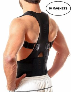 TAGORE Magnetic Posture Corrector for Lower and Upper Back Pain (Medium)