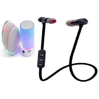 S10 Led Deep Bass Blueooth Speaker  with Magnetic Stylish Headset with Mic - Multicolor