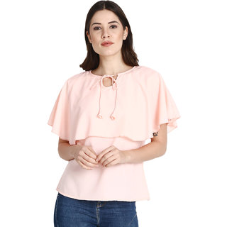 Jollify Women's Polyster Peach Color  Top
