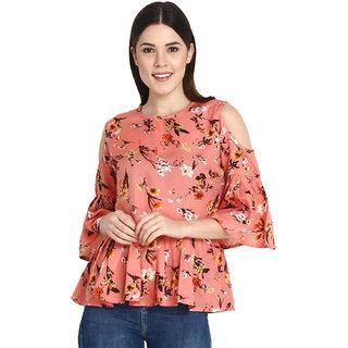 43c4611ac963a Buy Jollify Women s Polyster Orange Color Top Online - Get 70% Off