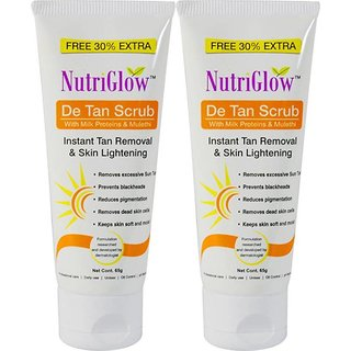 NutriGlow De Tan Scrub ( Pack of 2)(65Gm)