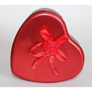 gulzar  Heart-Shaped Tin Box - Jewellery Box Jewellery Box Vanity Box  (Red)
