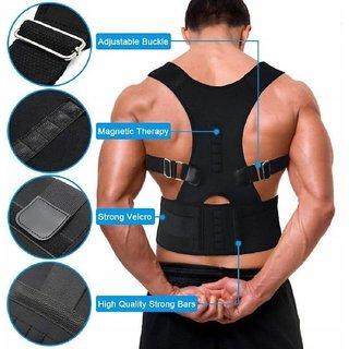 Real Doctors Plus Posture Support Brace Belt Back Brace Support Belt  Back Support (Free Size, Black