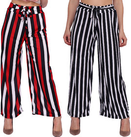 Multicolor Striped Plazo Pants All Time Favourite