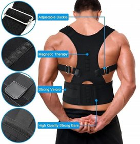 U.S.Traders  Black Posture Back Support Brace For Neck Back Pain Relief