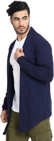 BuyNewTrend Navy Full Sleeve Cotton Plain Men's Shrug