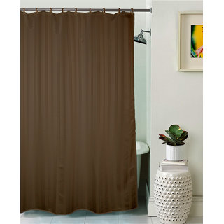 Lushomes Unidyed Coffee Liquer Polyester Shower Curtain with 12 Plastic Eyelets Size: 72x80 inches (single pc)