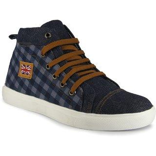 Blue Canvas Boots