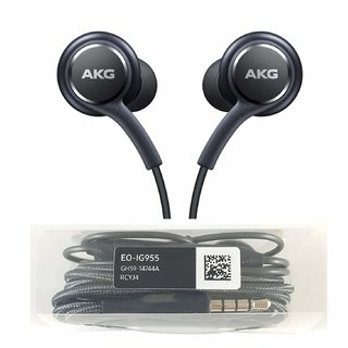 Earphones Black  Earbud for Galaxy S8 and S8 Plus AKG EO-IG955 EarbudCompatible with Other Smartphone Devices with MIC