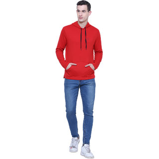 Aazing London Cotton Red Hoodies For Men's / Boys